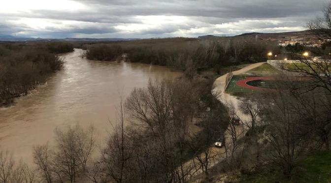 AVISO HIDROLÓGICO: incremento de caudales en el eje del Ebro