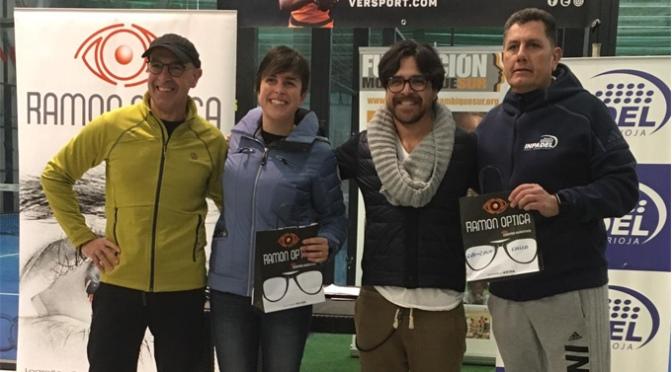 Pilar Docampo y Miguel Angel Gonzalez campeones del Torneo Mixto Solidario Ramón Óptica 2018