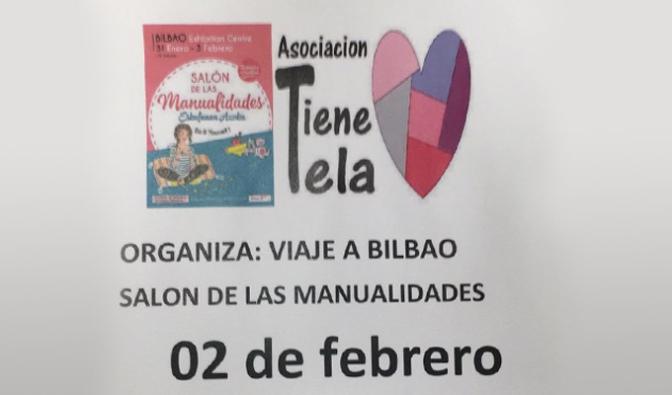 La Asociación Tiene Tela de viaje al Salón de las manualidades de Bilbao