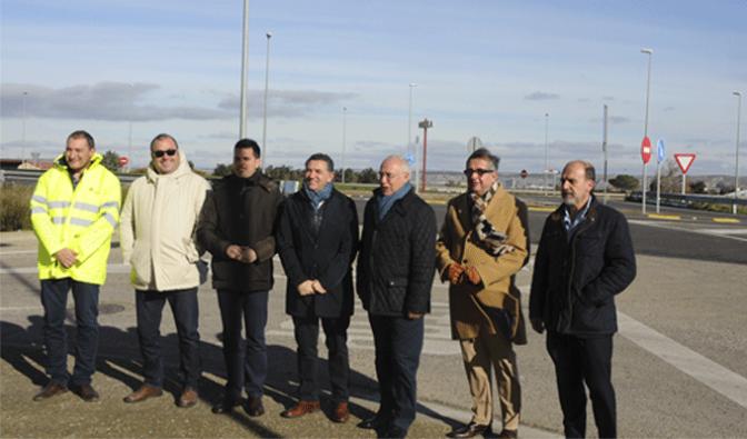 José Ignacio Ceniceros, ha visitado hoy las obras en la  LR-134