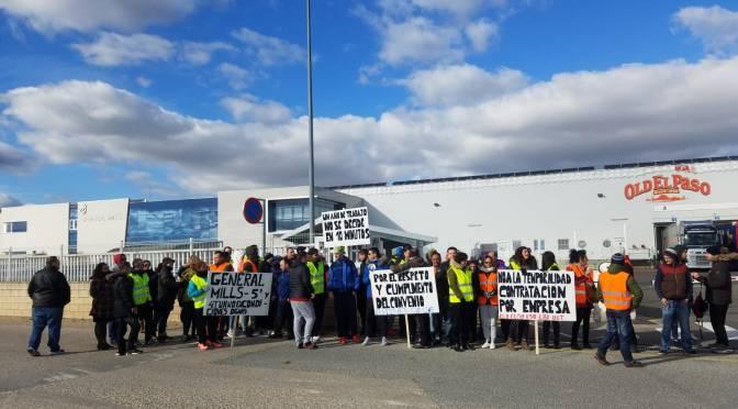 Protestas en General Mills de San Adrián