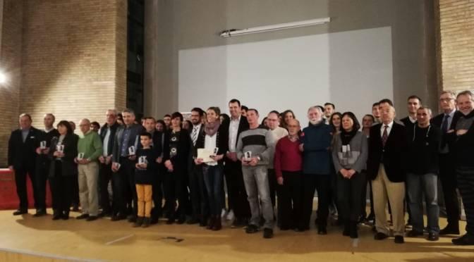 El Club atletismo San Adrián galardonado en la III GALA DEL ATLETISMO NAVARRO