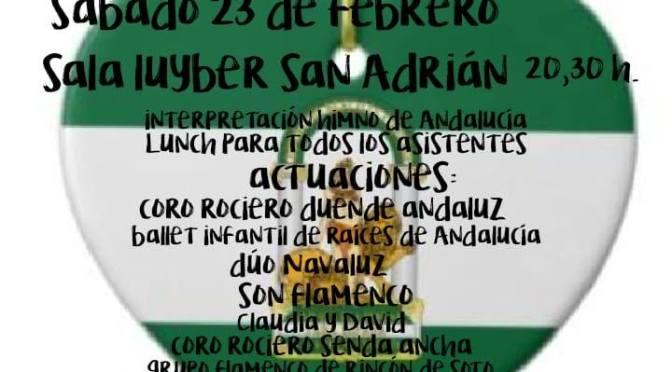 San Adrián celebra el Día de Andalucía este sábado