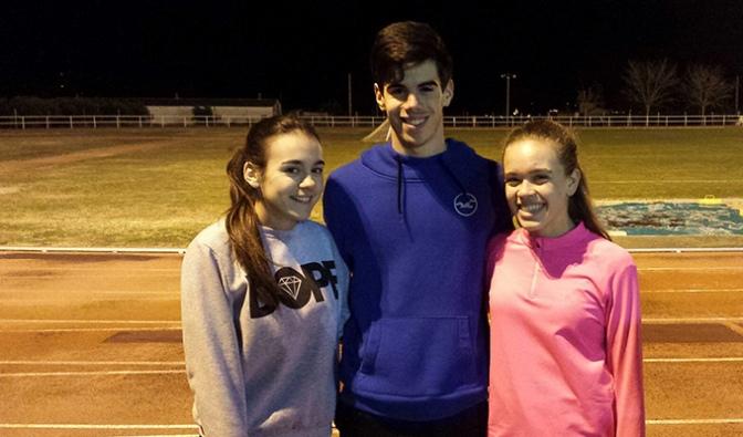 Cuatro atletas de la AD Teresiana suben al podium en el Campeonato de La Rioja de Pista Cubierta