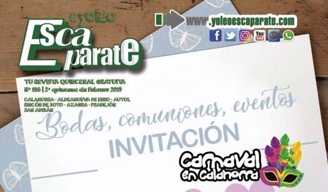 Hoy te invitamos a que celebres tu evento con Escaparate 2ª Quincena de Febrero