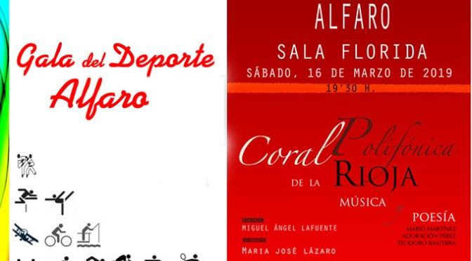 Gala del deporte y concierto para este fin semana en Alfaro
