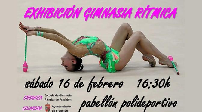 Exhibición de Gimnasia rítmica en Pradejón
