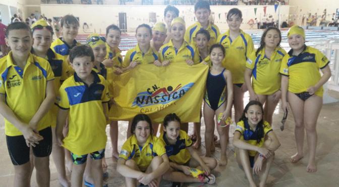 19 nadadores del club Nassica de Calahorra en la 4ª Jornada escolar de natación  prebenjamin y benjamin