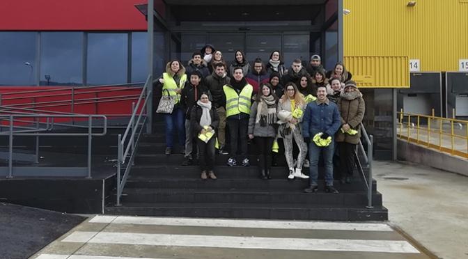 Alumnos de Transporte y Logística del Centro de Formación profesional La Planilla de visita