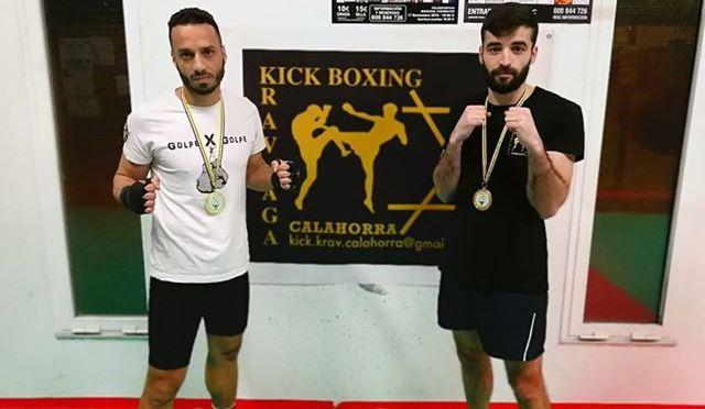 Asier Jalón y Amine El Badri consiguen ser campeones de La Rioja de kickboxing