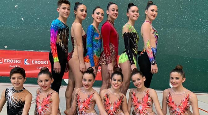 El fin de semana gimnastas del Club Gimnasia Rítmica A.D.Agustinos participaron en el torneo Donosti