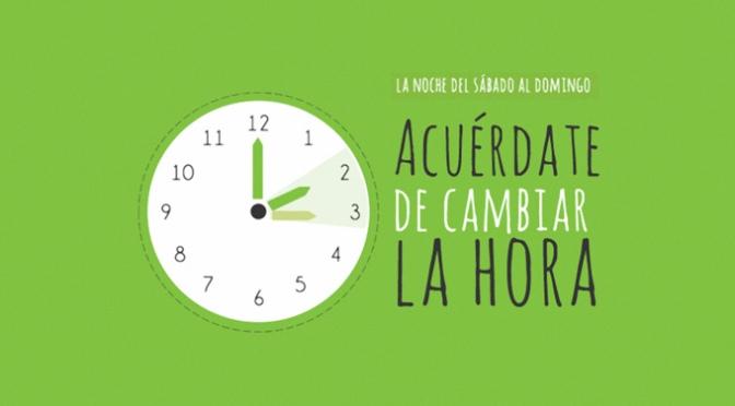 El domingo, cambio de hora