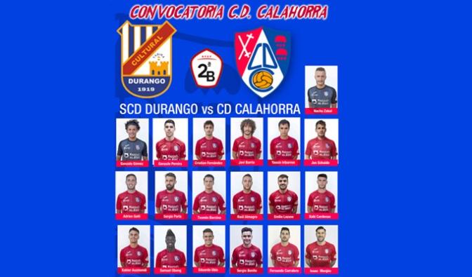 Convocatoria del CD Calahorra para el encuentro de mañana