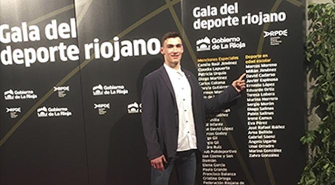 El ex jugador de ABQ Calahorra Millán Jiménez premiado en la gala del deporte