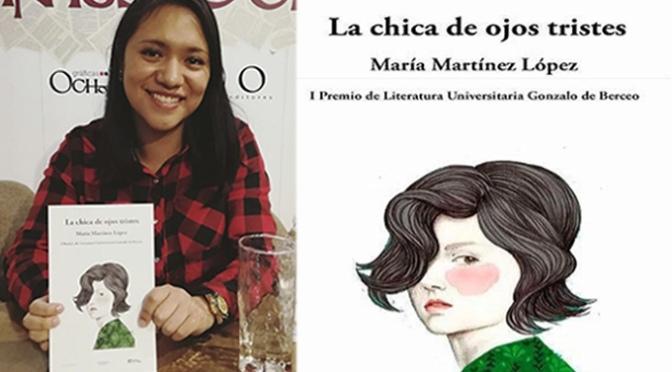 """La calagurritana María Martínez presenta su obra """"La chica de los ojos tristes"""""""