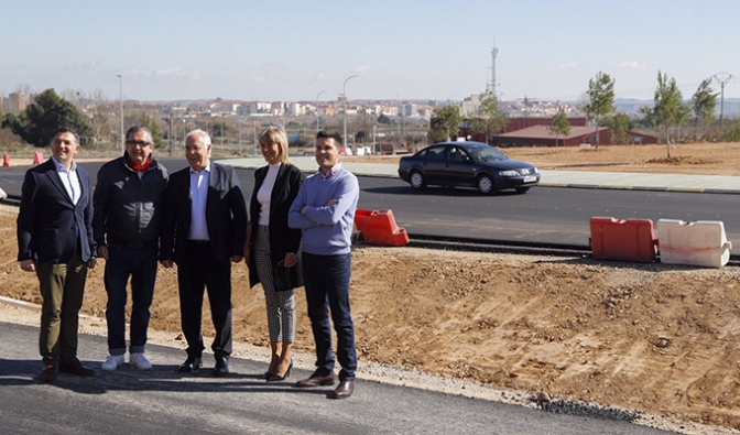 Las obras de la LR-134 en Calahorra afrontan su recta final al superar el 75% de ejecución