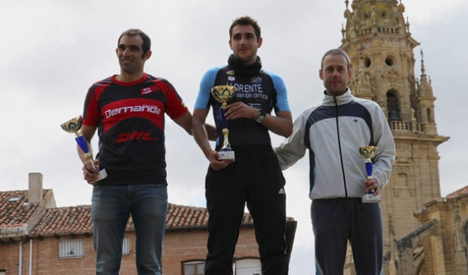 Borja llorente se proclama campeón riojano de duatlón de media distancia