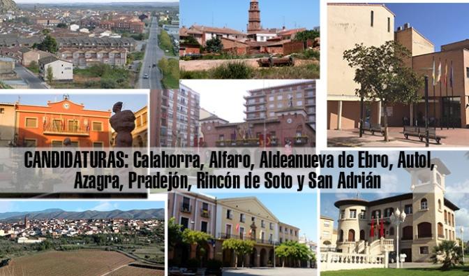 Elecciones 26M: Candidaturas de Calahorra, Alfaro, Aldea, Autol, Azagra, Pradejón, Rincón y San Adrián