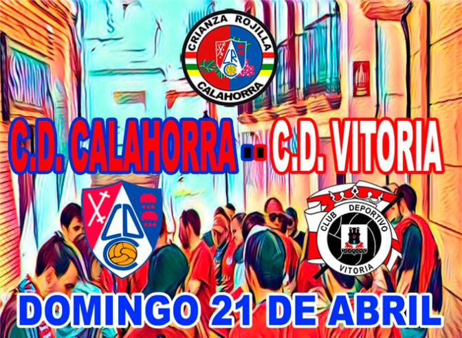 Partido entre el Cd Calahorra y el Cd Vitoria el 21 de abril