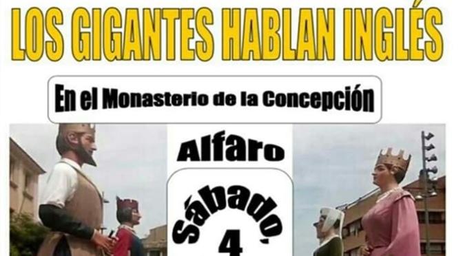 Los gigantes hablan en inglés en Alfaro