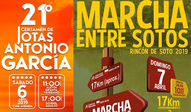Jotas y Marcha Entre Sotos este fin de semana en Rincón de Soto
