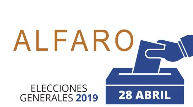 Ya conocemos la composición de las mesas electorales de Alfaro para el 28 de Abril
