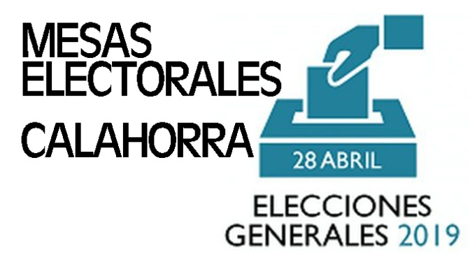 Composición de las mesas electorales para las elecciones del 28 de Abril en Calahorra