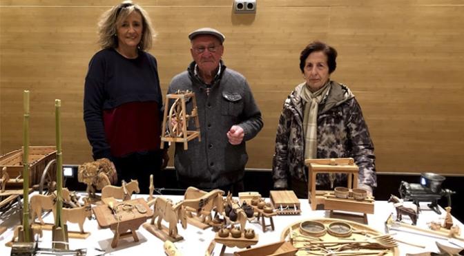 El calagurritano Gregorio Muñoz dona con 42 piezas de madera para el Museo de la Verdura