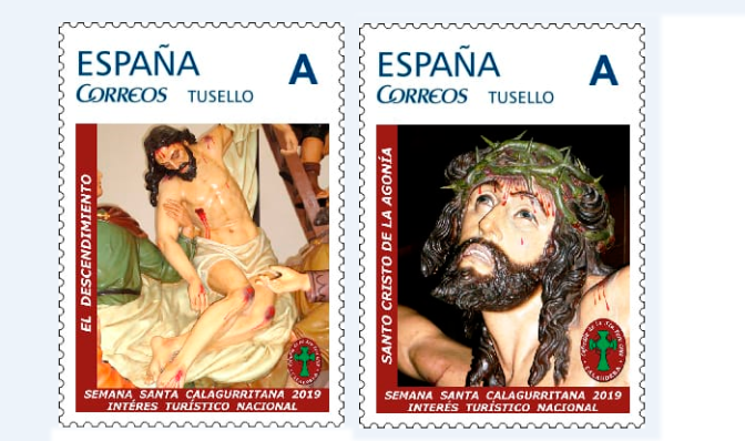 Primeros sellos dedicados  a la Semana Santa Calagurritana.