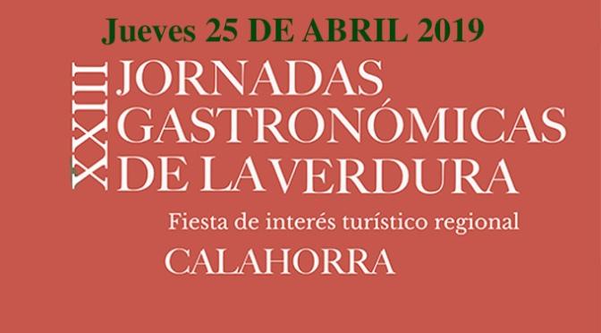 Jueves: Mercado, cine, charla, túnel del pincho… Continuan las XXIII Jornadas Gastronómicas de la Verdura