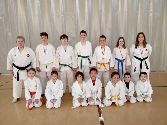 El club karate Kan Ilurcis de Alfaro en el campeonato nacional de Barbera del Valles celebrado el fin de semana