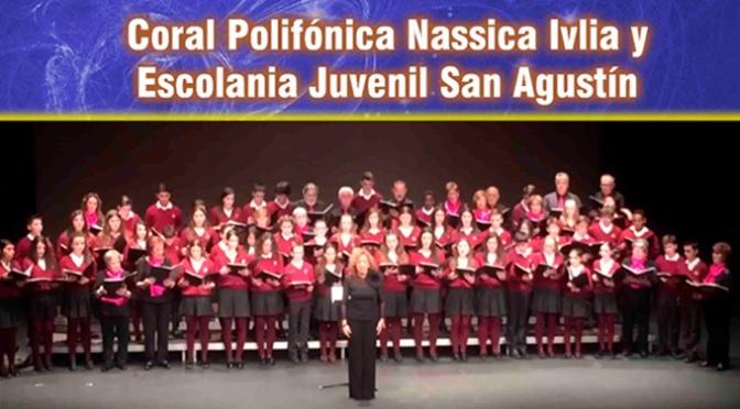 Concierto bandera de banderas de la coral Polifónica Nassica Ivlia y la Escolanía Juvenil San Agustín