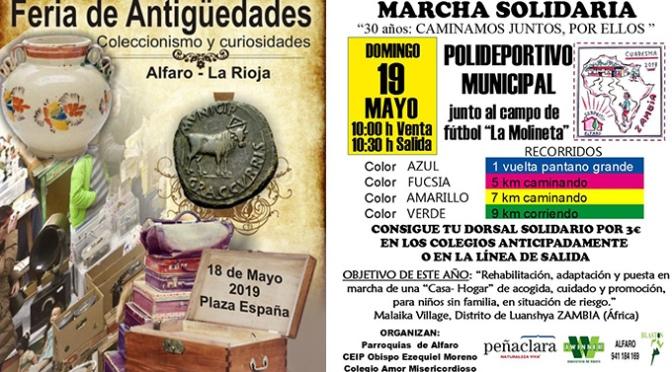 Coleccionismo y curiosidades, marcha solidaria… Este fin de semana en Alfaro
