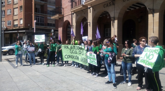 Las trabajadoras del primer ciclo de Educación Infantil de La Rioja convocan concentraciones en Logroño y Calahorra