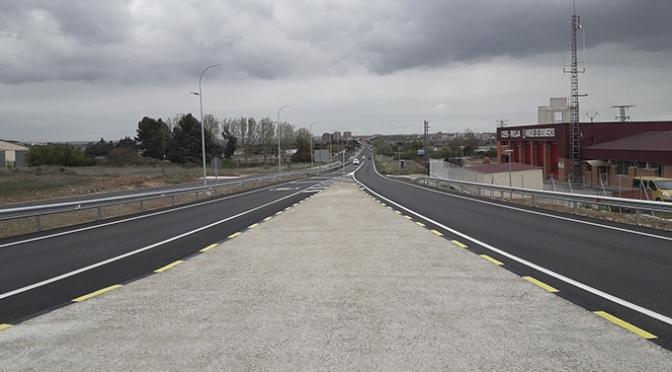 Terminada la nueva fase de mejora de la carretera LR-134 en Calahorra