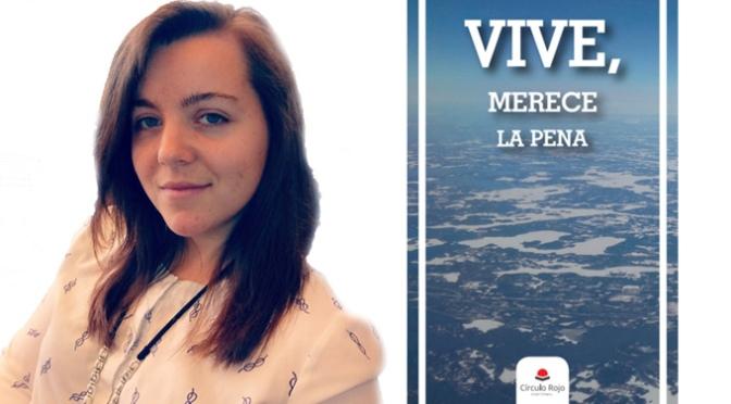 La joven calagurritana Andrea Alcalá acaba de sacar a la calle su primer libro 'VIVE, merece la pena'