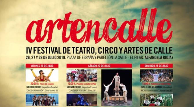 El último fin de semana de Julio en Alfaro llega la cuarta edición de Artencalle