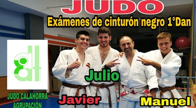 Rebeca Jiménez, Javier Jiménez, Julio Romero y Manuel Falcón nuevos cinturones negros