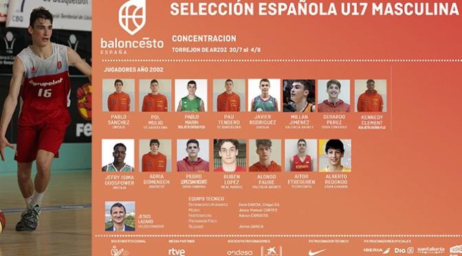 Millán Jiménez con la selección española U-17