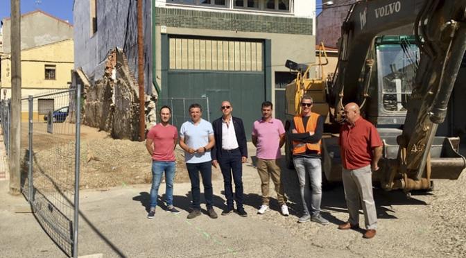 Comienzan las obras de la nueva terminal de autobuses en Pradejón