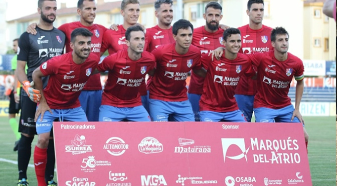 El CD Calahorra se impone, 1-0, a un rocoso y batallador CD Ebro