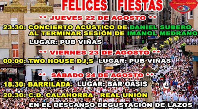La Crianza Rojilla programa el inicio de la temporada con fútbol, música y devoción por Calahorra