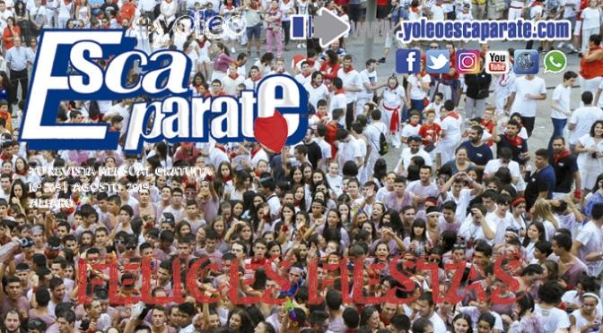 Escaparate Alfaro Agosto, especial fiestas de San Roque y San Ezequiel
