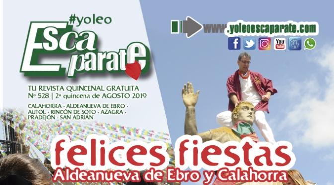 Una vez más, con el pañuelo al cuello en Escaparate 2ª Quincena de Agosto, especial fiestas de Aldeanueva de Ebro y Calahorra