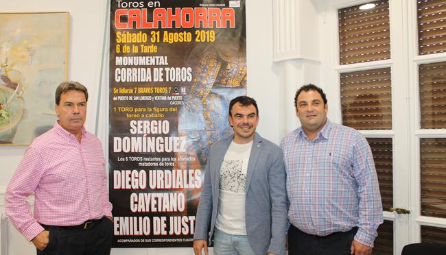 Diego Urdiales, Cayetano Rivera y Emilio de Justo el 31 de agosto en Calahorra