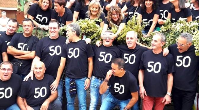 Los quintos del 69 de Pradejón, celebraronuna gran fiesta por sus 50 años