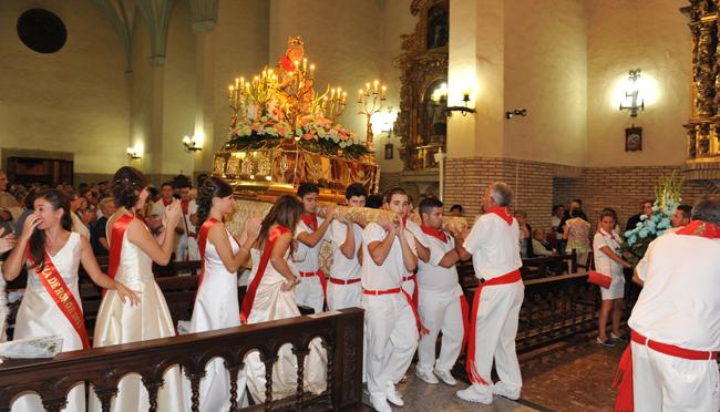 Hoy festividad de la Virgen del Olmo en Azagra