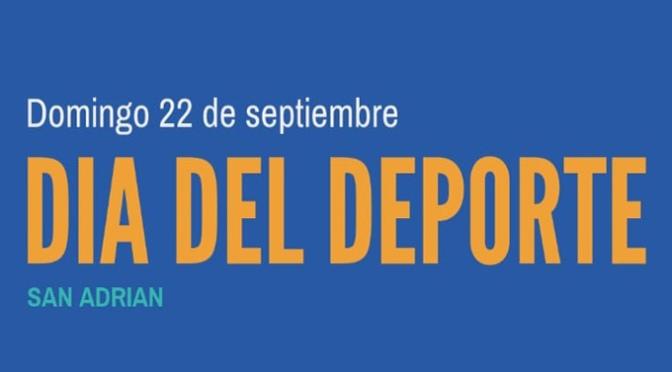 Este domingo se celebra en San Adrián el Día del deporte en la calle