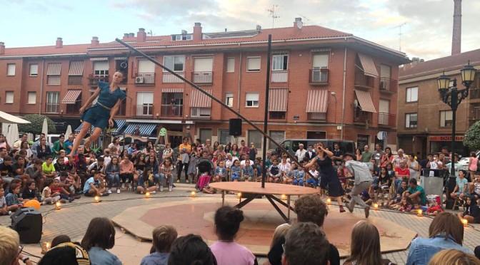 El festival de circo de Navarra, llegó ayer a San Adrián