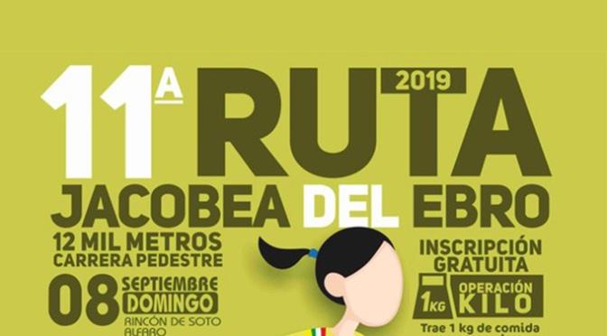 XI CARRERA DE ATLETISMO RUTA JACOBEADELEBRO, esta vez con salida en Alfaro